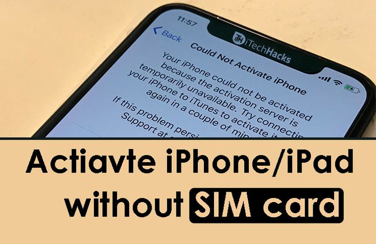 How to activate iphone or ipad without sim card 4