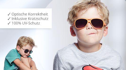 Kinderaugen vor der Sonne schützen