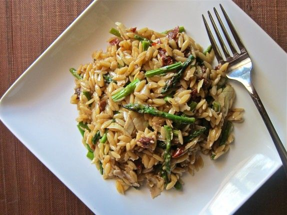 orzo and asparagus pasta salad - candidate for Easter dinner side dish