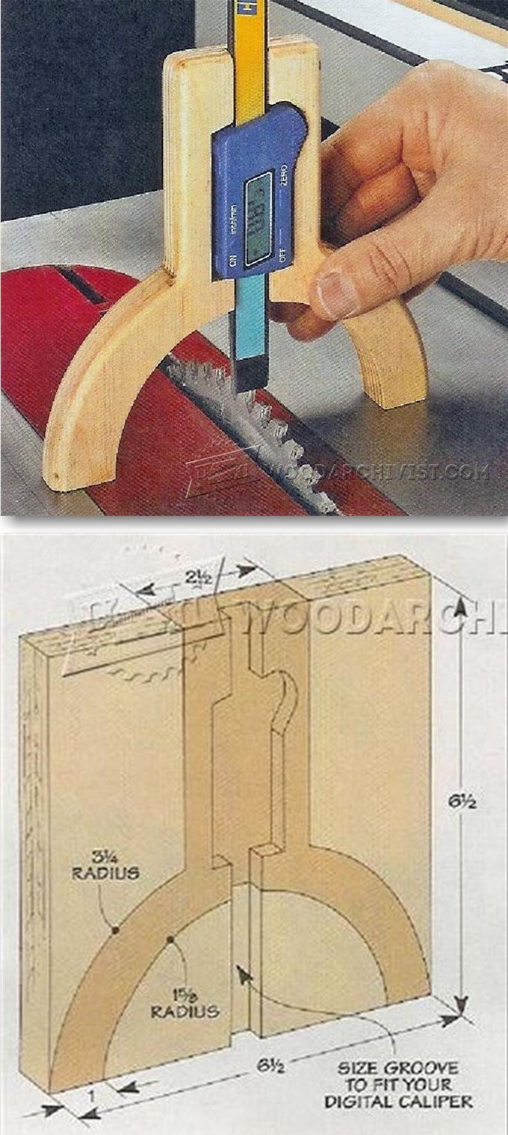 DIY Höhenmesser. Vorrichtung für die Schieblehre.
