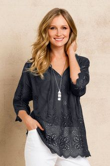 Grace Hill Broidery Blouse - from Ezibuy
