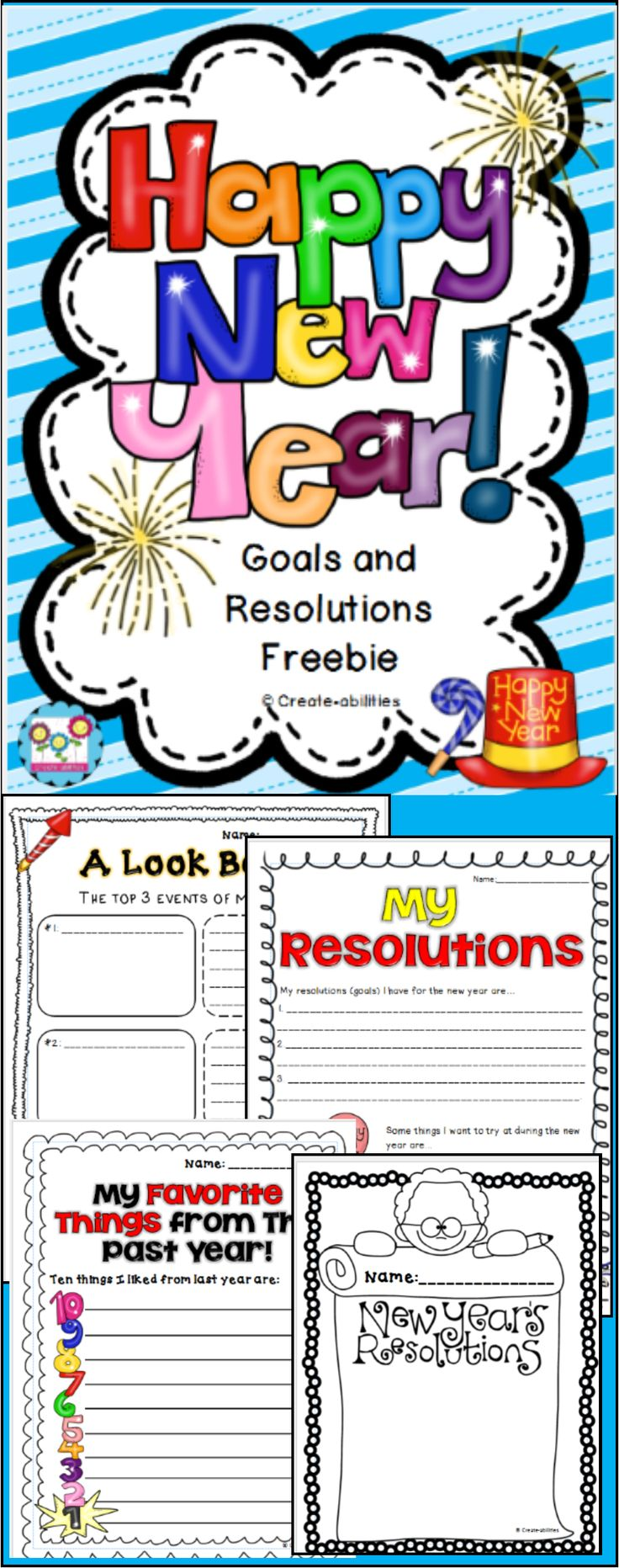 best images about new year st grade teaching new year s resolutions and goals plus a creative writing prompt