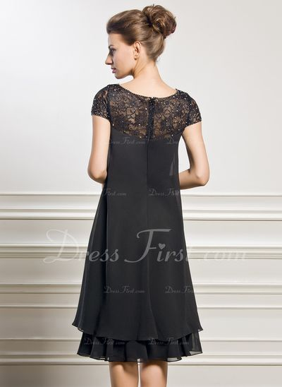 Empire Scoop Neck Knee-Length Chiffon Mother of the Bride Dress With  Beading Sequins ( 4849d82bf0
