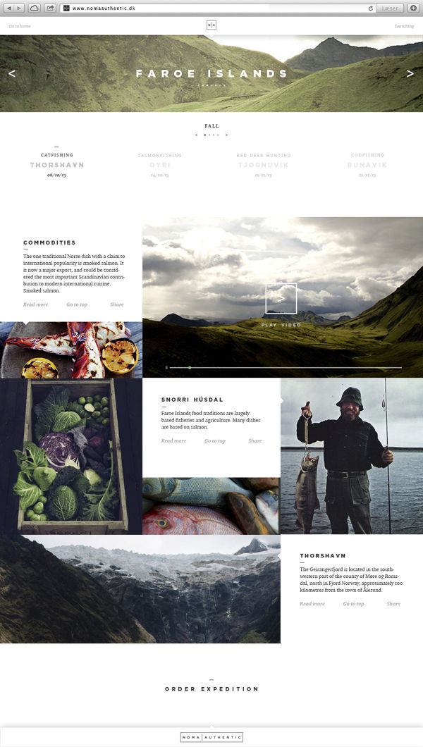 web design - Noma Authentic on Behance