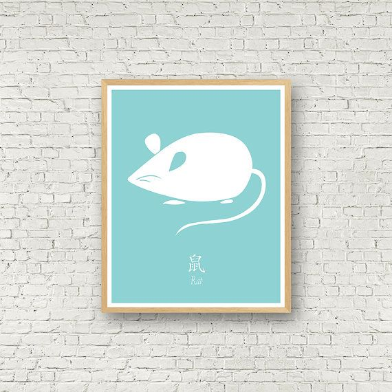 Année du rat signe du zodiaque chinois horoscope par MamzelleJules