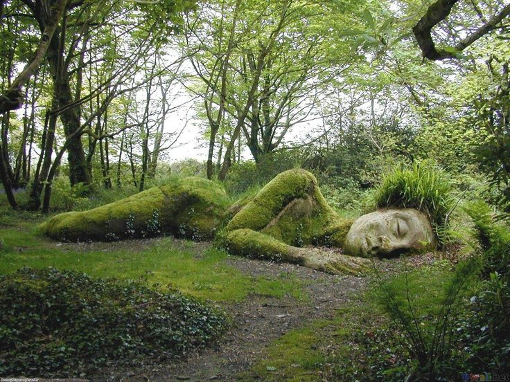 Sleeping Goddess at the Lost Gardens of Heligan, England