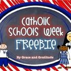 Looking for a fun activity for Catholic Schools Week? This is a sample from my Catholic Schools Week Pack. Students can create an illustration abou...