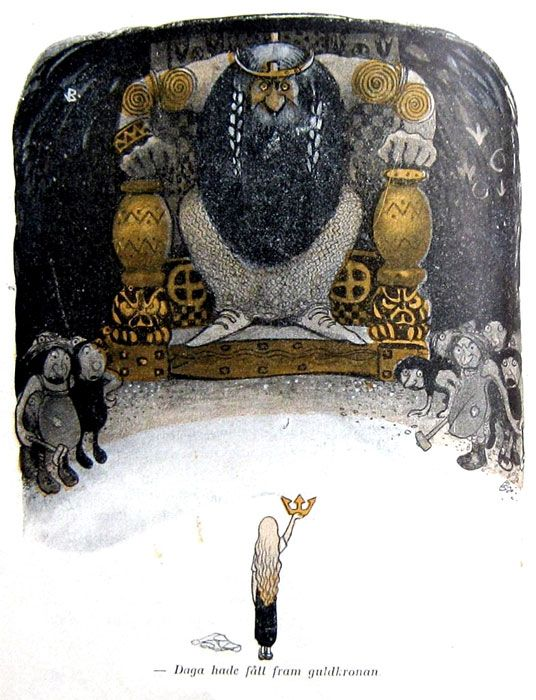 'Bland Tomtar och Troll I' / 'Among Gnomes and Trolls I' by John Bauer, published 1907.
