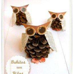 cute pine cone owls
