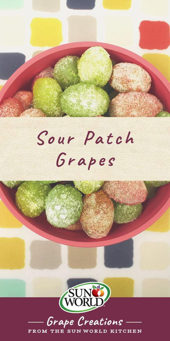 "Also known as ""glitter grapes"", this creative snack is a healthy alternative to the popular sweet and sour candy – and tastes just as good!"