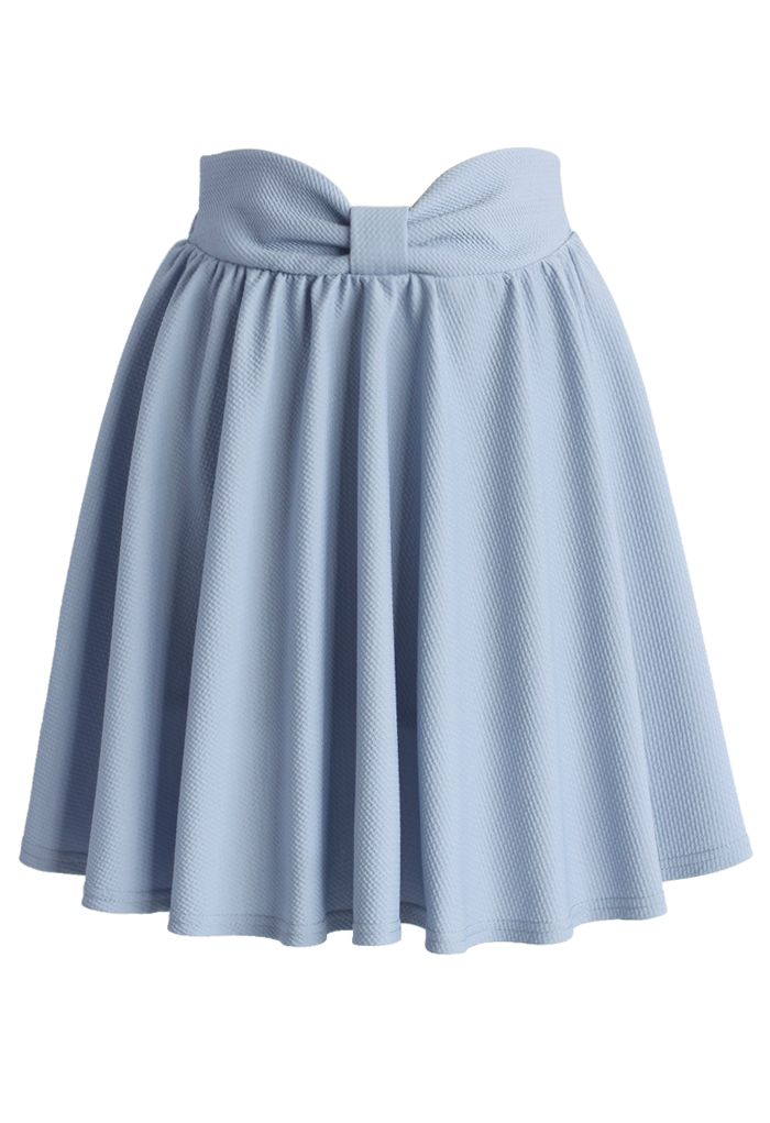 Delight My Bow Skater Skirt in Blue - New Arrivals - Retro, Indie and Unique Fashion