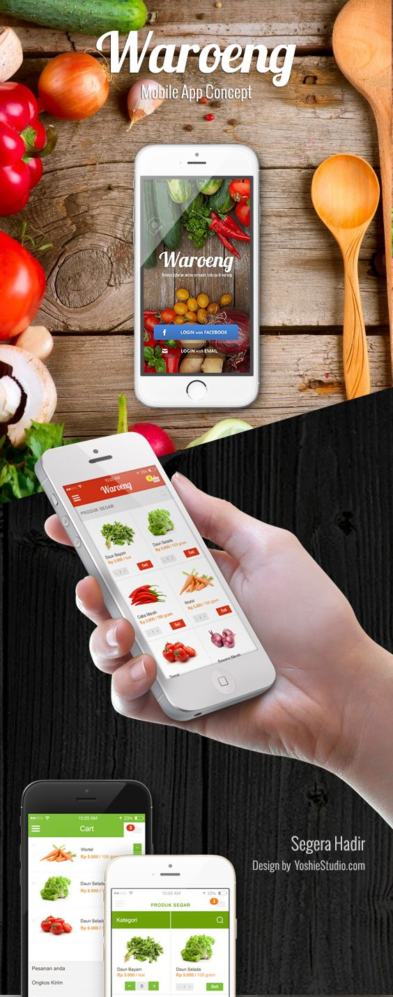 Grocery App Project. This is my first design for mobile app.