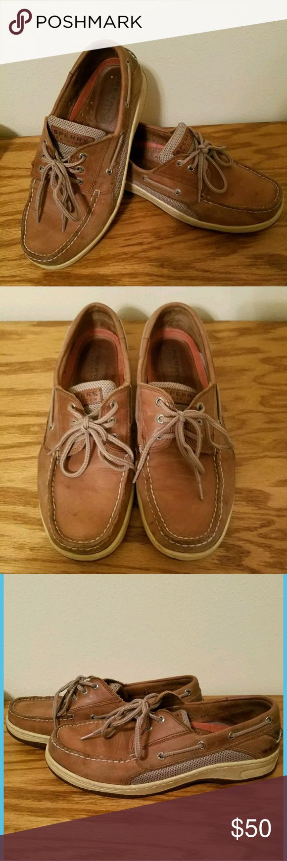 Sperry Top Sider Billfish 3 eye Boat Shoes 10 WIDE Mens Size 10W Wide Sperry Billfish 3 eye Boat Shoes.  Barely Worn In Excellent Condition!  Great Tan/Beige Color Perfect For Any Season.   Thanks for looking! Message me with any questions! Sperry Shoes Boat Shoes