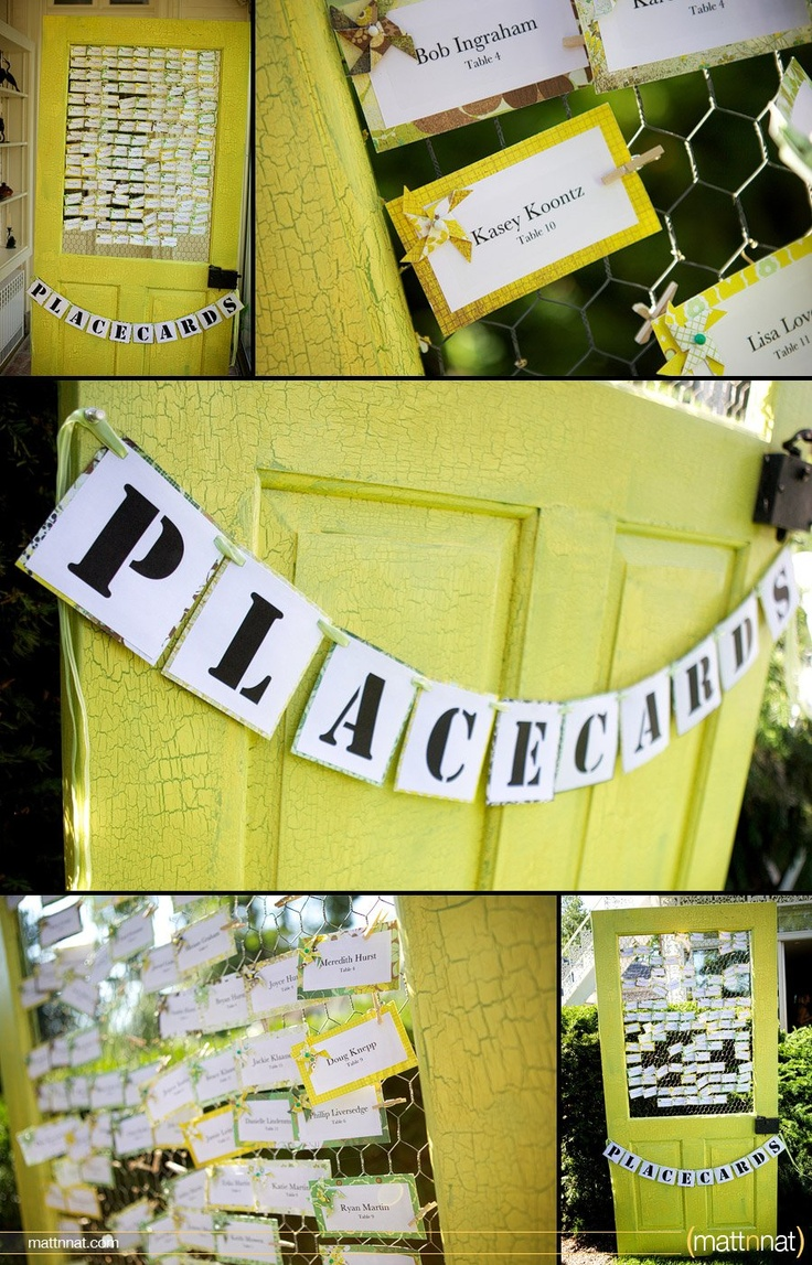 Adorable use of old door and chicken wire. I could definitely do this!