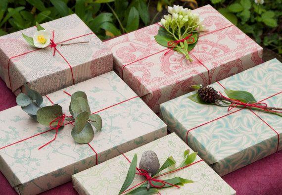 Classic Set of Five Christmas Wrapping Scrapbooking by naturewrap, $19.00 www.emmajennings.com.au