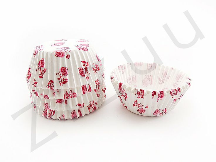 150 pirottini tondi a rose rosa con base 50mm #pirottini #ZiZuu
