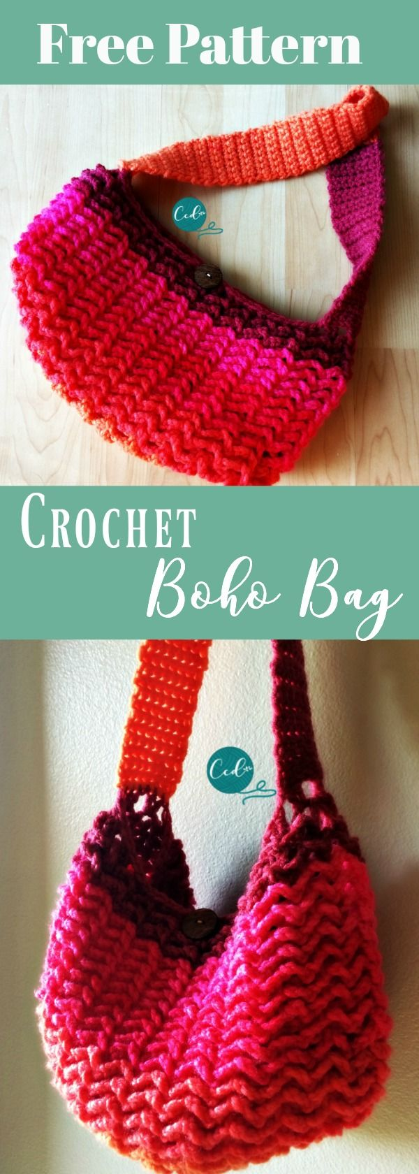 Crochet one skein bag | easy photo tutorial | free crochet purse pattern | crochet tote | how to crochet a bag | crochet crossbody bag | learn to crochet | summer crochet projects | bernat pop yarn | one skein crochet projects