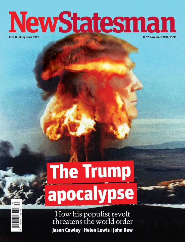 """NEW STATESMAN: The Trump Apocalypse #tomorrowspaperstoday"""