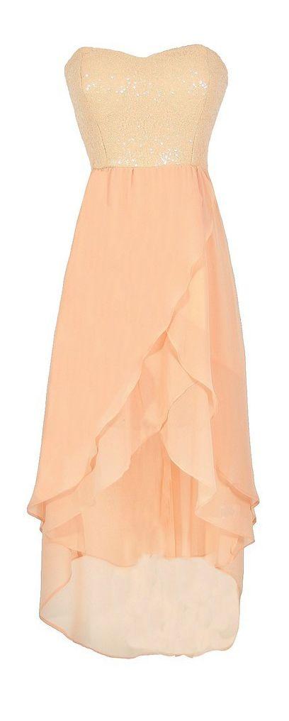 Peachy sequin dress