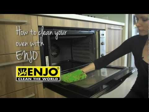 How to Clean Your Oven With ENJO, Chemical Free Cleaning, Clean with Water, Kitchen Glove, Kitchen ENJOfil and Marble Paste.