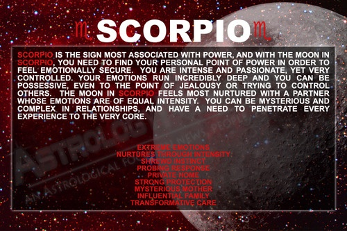 Scorpio (Moon Sign) | Tools Astrology/Zodiac | Pinterest