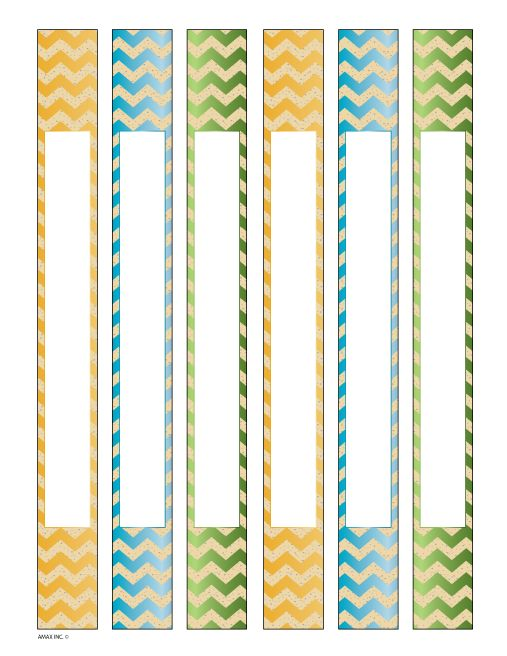 Binder Spine Inserts Chevron Printables Binder spine labels
