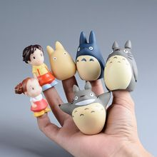 TOTORO Action Figure Kids Toys Japanese Studio Ghibli finger puppets