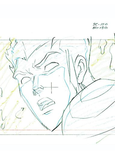 Fantastic Four Original Marvel Animation Art (Human Torch from World's Greatest Heroes)