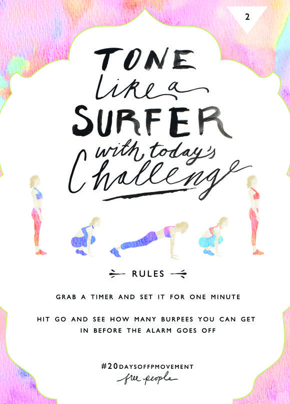 20 Days Of Movement Day 2: Tone Like A Surfer | Free People Blog #freepeople