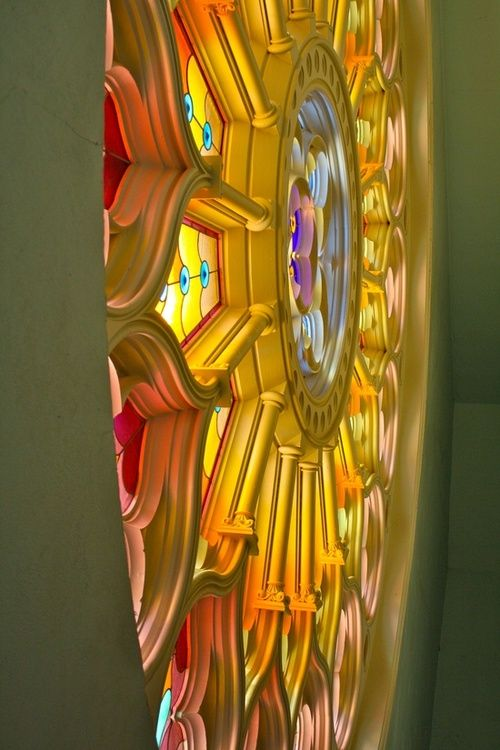 Rose Window in St. James Cathedral Montreal, Canada