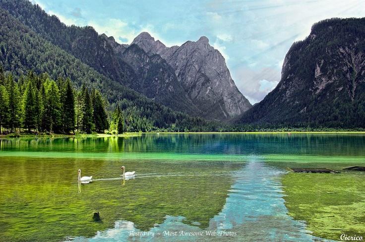 Dobbiaco, Toblach - Il lago, Italy #altapusteria