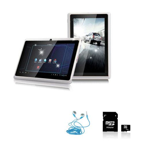 """7"""" Android 4 0 ICS Wi Fi Camera A13 Capacitive Tablet Bundle Earphone 16 GB Card 