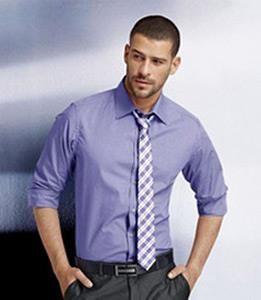 Синяя рубашка и галстук