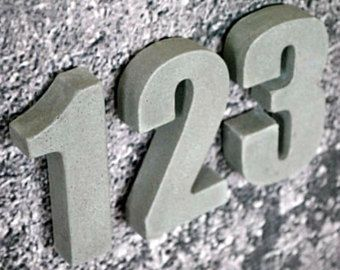 Concrete Address Numbers / Modern House Numbers / House Number Sign / House Number Plaque / Address Numbers / Numbers House Address / Sign