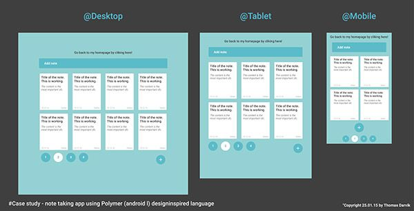 Just a small note-taking app designed with Android l / polymer design language. Work in progress + webapp upcoming. Stay tuned