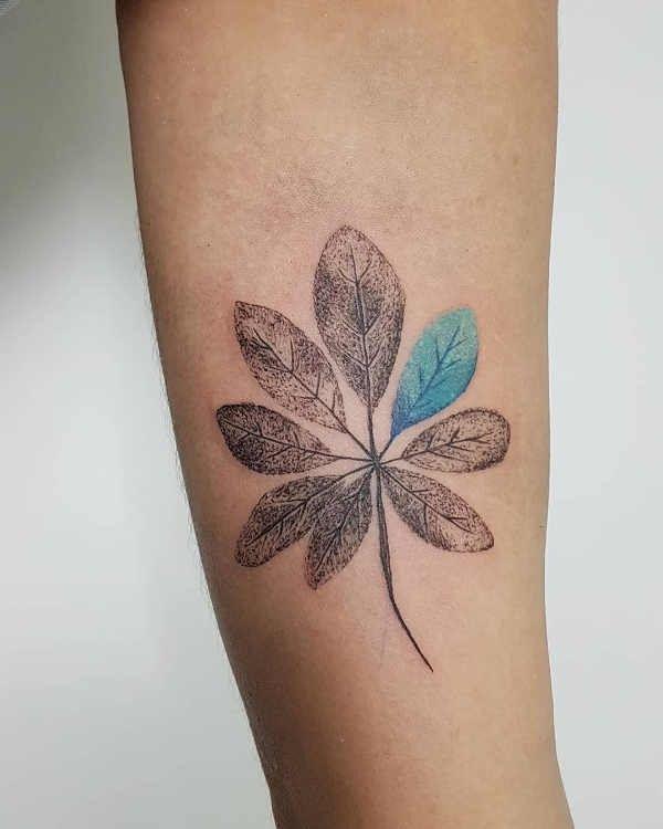 Tatuaż Liść Znaczenie Historia 50 Zdjęć Pomysł Na
