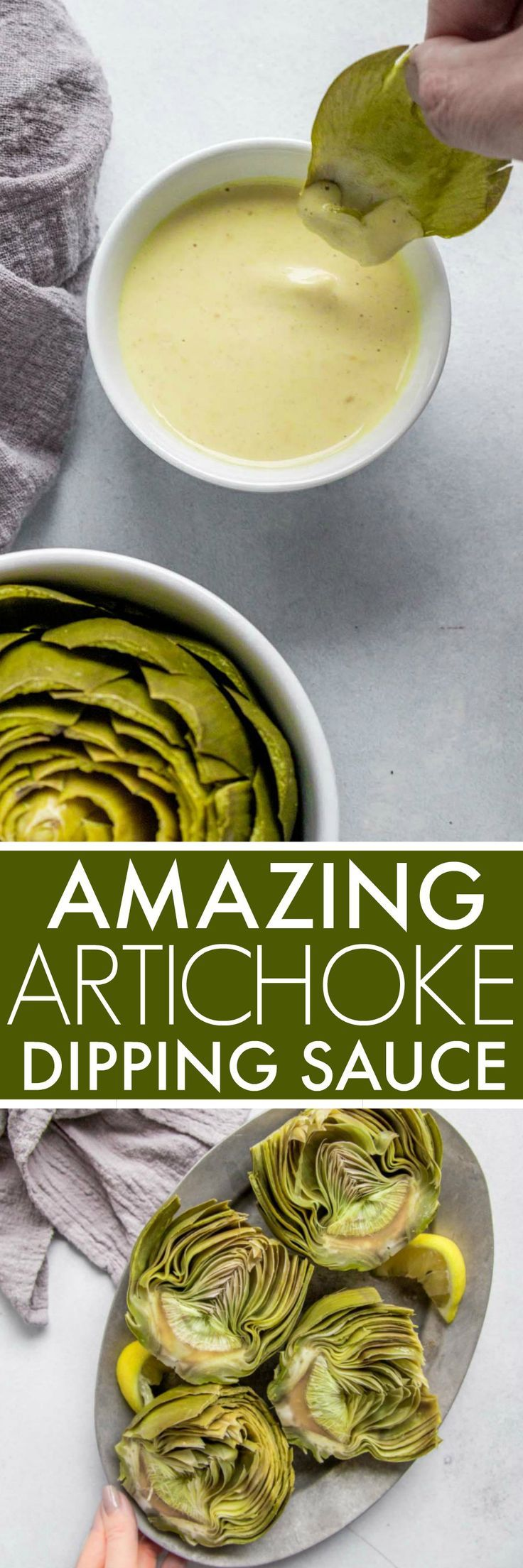 This Artichoke Dipping Sauce is amazing!  It turns even the pickiest eater into a steamed artichoke lover and is made with ingredients that you probably already have on hand.  via @platingspairing