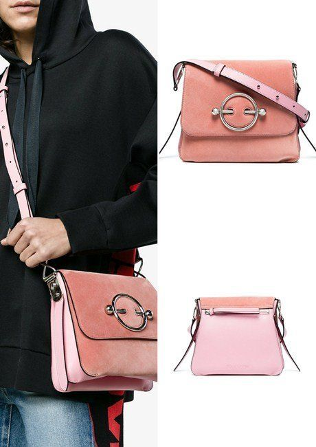 a7c1a9ccaf06 25 Must-Have Shoulder Bags Perfect for Any Occasion (Women). JW Anderson  Pink Disc suede and leather cross body bag
