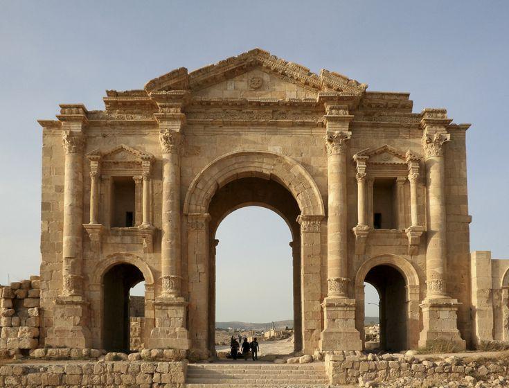 Arch of Hadrian, c. AD 81, Jerash (Jordan)