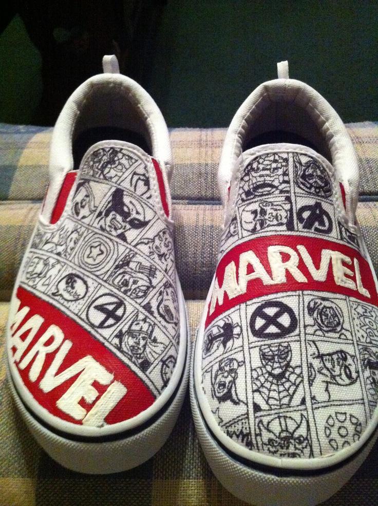 Marvel comic shoes