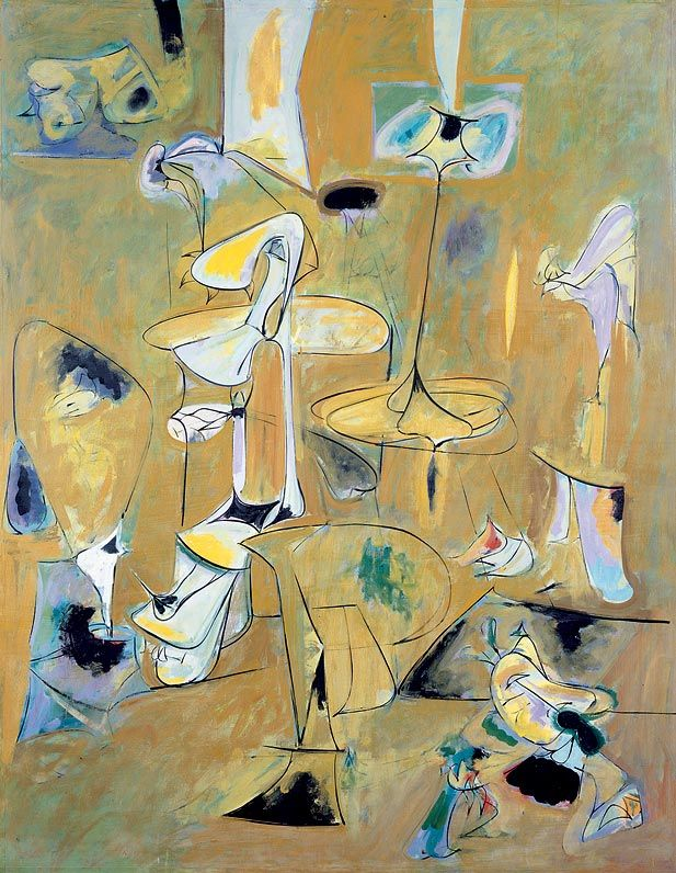 """Arshile Gorky - The Betrothal I, 1947 -""""Abstraction allows man to see with his mind what he cannot see physically with his eyes....Abstract art enables the artist to perceive beyond the tangible, to extract the infinite out of the finite. It is the emancipation of the mind. It is an exploration into unknown areas.""""  ― Arshile Gorky tags: abstract-art, infinite, perception 4 likes Like"""