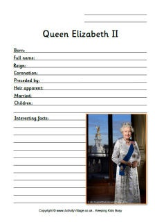 A free collection of Diamond Jubilee worksheets for the kids to use. Celebrate the Queen's 60th year of rule with these original and fun worksheets!