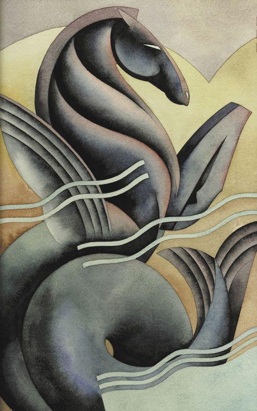 'Seahorse' by Nick Gaetano / Illustration / Posters | Art deco design