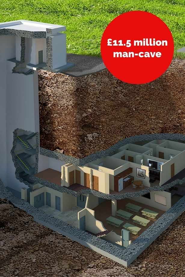 Ultimate man-cave? The £11.5m underground bunker which can withstand a nuclear blast