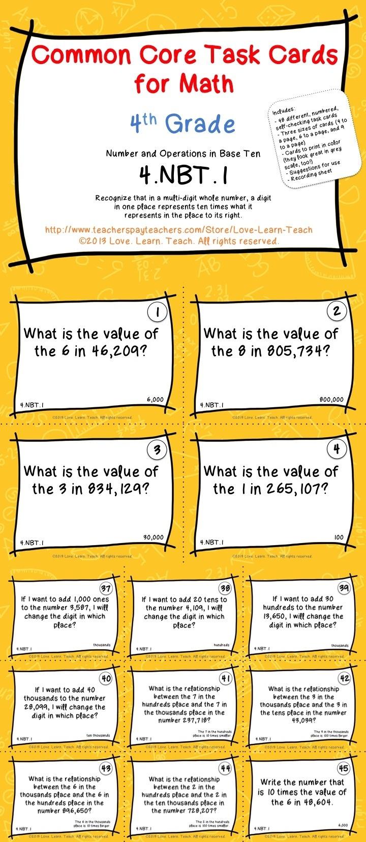 108 Best Images About Math Place Value On Pinterest
