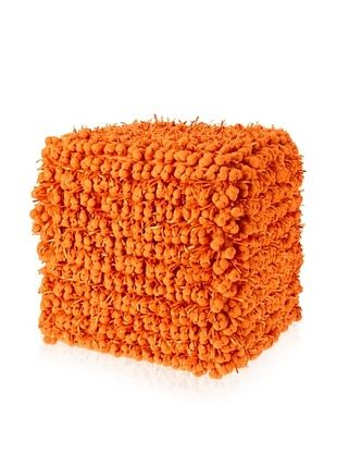 Design Accents Funberry Pouf, Orange, 18