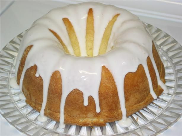 7-Up Bundt Cake from Food.com:   This is THE BEST cake!! It is so good! At potlucks and get-togethers, it always disappears quickly. I love the light lemon flavor and the moistness of the cake. I got the recipe from my mother. It's always been a family favorite.