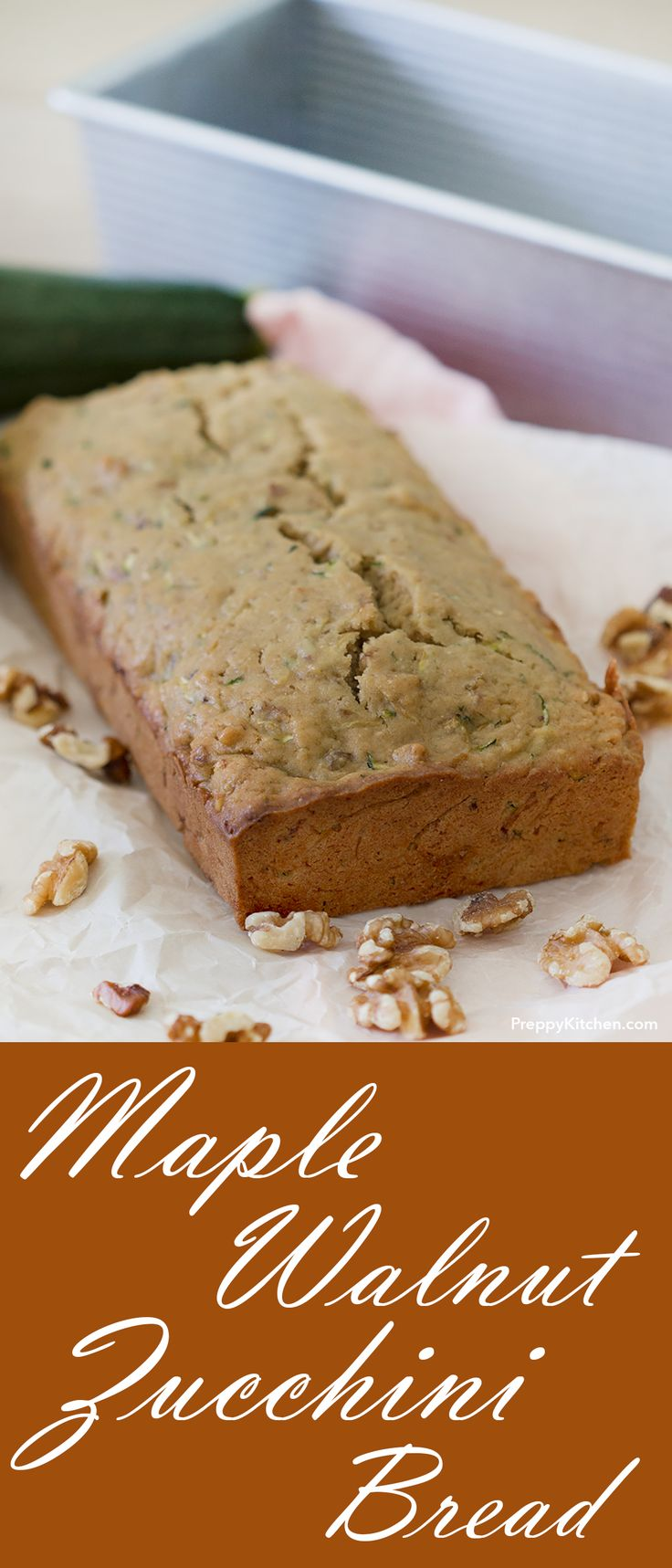 Simple maple walnut zucchini cake made with easy ingredients.  Its a must recipe to have on any Holiday table. | Thanksgiving recipes, bread recipes, making bread, how to make bread