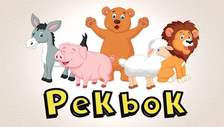 Pekbok Med Djur | Lär Dig Djurens Namn Och Läten | Utbildande Barnprogram