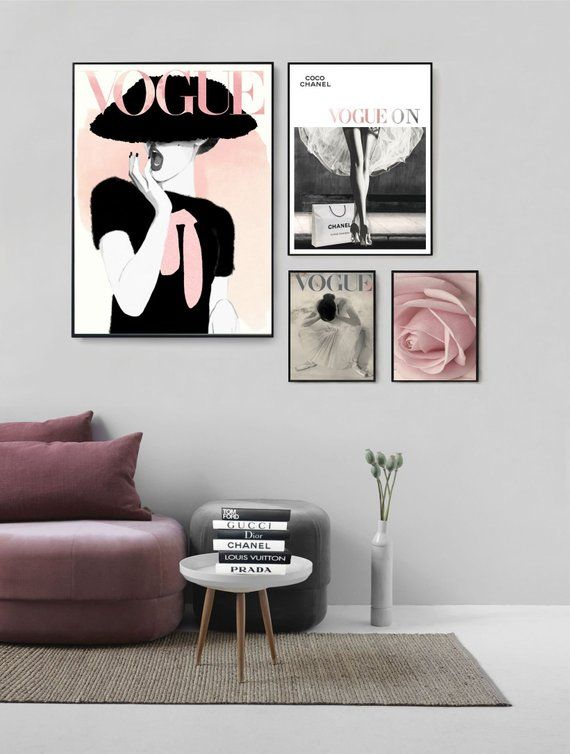 Fashion Illustration Wall Art Fashion Chic Girl Fashion Etsy In 2020 Wall Art Canvas Painting Canvas Wall Art Illustration Wall Art